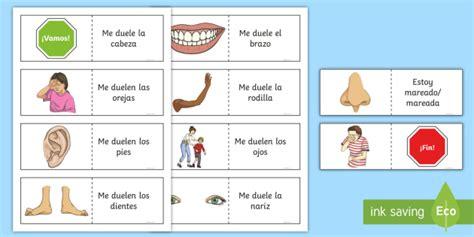 Different Illnesses Card Game Spanish