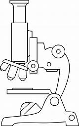 Microscope Clip Clipart Line Microscopes Cartoon Outline Template Biology Science Cliparts Others Inspiration Coloring Blank Labeled Clipground Sheet Printable Sweetclipart sketch template