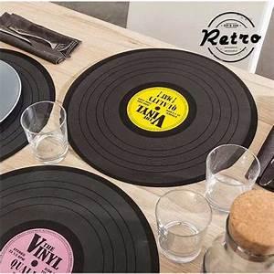 Sets De Table Originaux : set de table vintage disque vinyl 39cm deco mariage pas ~ Voncanada.com Idées de Décoration