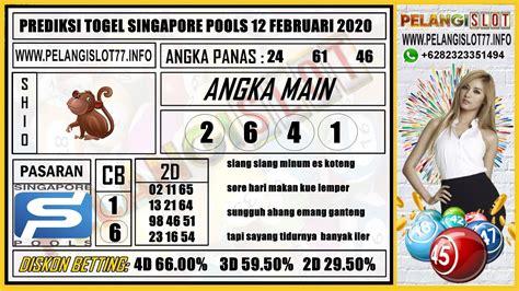 prediksi togel singapore pools  februari  angka main     colok bebas   shio