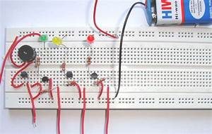 Simple Water Level Indicator Alarm Using Transistors