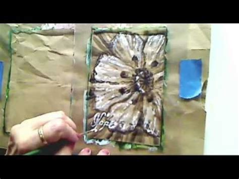 how to paint a poppy flower brown paper bag tutorial