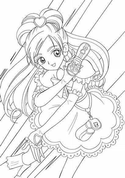 Coloring Pages Precure Anime Printable Frozen Adult