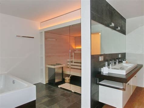 Sauna Für Badezimmer by Glas Sauna Au 223 Enansicht Mit Waschtisch Und Badewanne