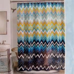 peri shower curtain fabric hedges chevron royal blue navy white gold grey 72 quot x 72