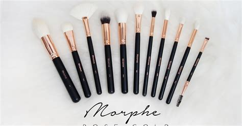 morphe brushes rose gold collection review xueqis