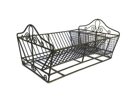 french wire dish drainer rustic kitchen plate rack