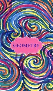 Geometry Binder Cover