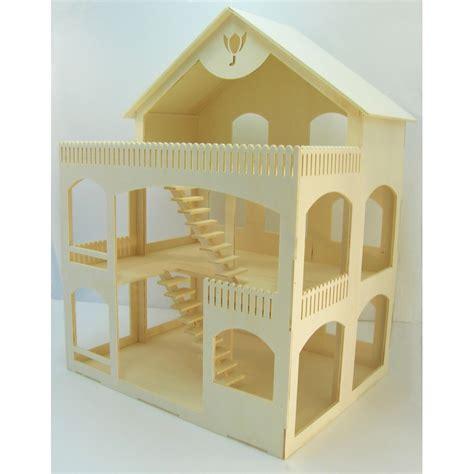 maison poupee en bois maison de poup 233 e rosine en bois 224 assembler 224 peindre et 224 d 233 corer