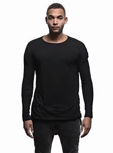 Tee Shirt Homme Manches Longues : t shirt manches longues homme oversize asym trique noir ~ Melissatoandfro.com Idées de Décoration