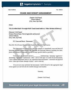 cease and desist letter cd create a cease desist With legal harassment letter