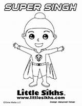 Sikh Coloring Colouring Pages Sheets Singh Little Sikhism Super Action Sikhs Crafts Figure Kid Figures Books Alphabet Gurbaani Tv Activities sketch template