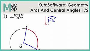 Worksheet Central Angles And Arcs Geometry Cp