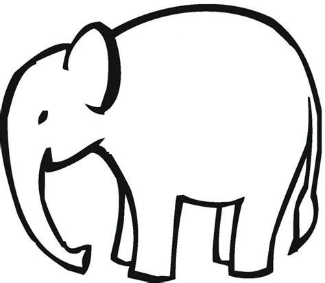 baby elephant head clipart black  white