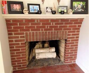 White Washed Fireplace - Wife in Progress