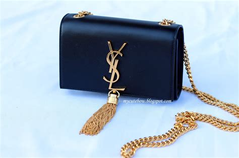 gilt review ysl monogram tassel bag  cute bow