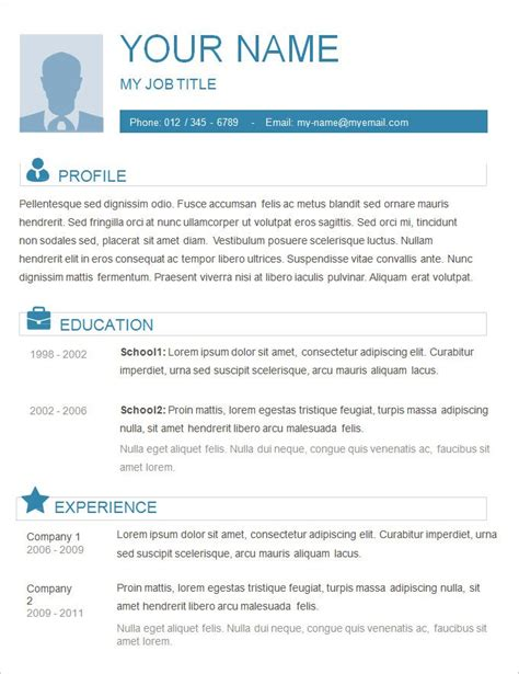 Plain Resume Template by Free Resume Outlines