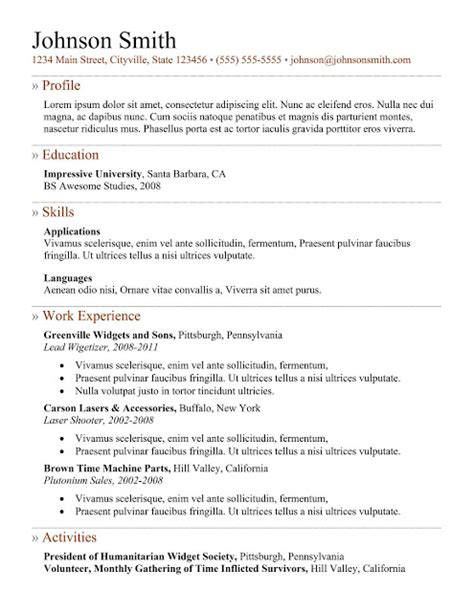 Up To Date Resume Format 2015 by 7 Sles Of How To Make A Professional Resume Exles Best Professional Resume Templates