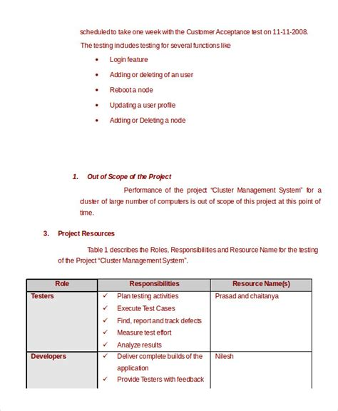 Performance Testing Test Plan Template by Test Plan Template 11 Free Word Pdf Documents