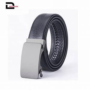 Men U0026 39 S Leather Ratchet Dress Belt With Automatic Buckle