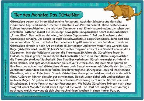 Weitere 3 klassenarbeiten biologie klasse 6. Ideenreise: Das Gürteltier (Tier des Monats Juni)