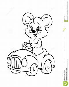 teddy bear driver car coloring pages stock illustration With car subwoofers