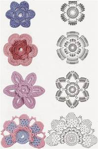 Marieta U0026 39 S Yarnland  Crochet Flowers - Free Patterns-diagrams-video