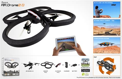 parrot ar drone  quadricopter p hd camera  iphone ipad apple android ebay