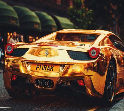 Golden Ferrari Wallpaper By __konig__