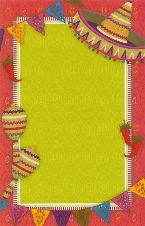 Póster para notas o invitación de fiesta mexicana ...
