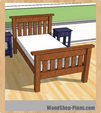 woodwork twin bed plans woodworking  plans