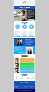 central responsive email newsletter template email With mailchimp create template from campaign