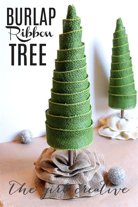 how to decorate christmas tree with burlap ribbon photograph
