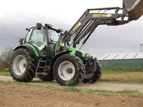 traktor mit frontlader deutz fahr agrotron 120 traktor schlepper frontlader