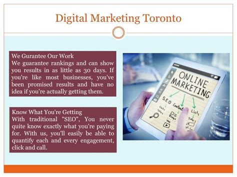 digital marketing toronto ppt digital marketing toronto powerpoint presentation