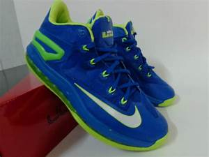 2014 Nike Lebron James 11 Low Blue Green Shoes Low Price ...