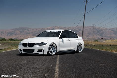 bmw stanced coast to coast courtney 39 s aggressive bmw f30