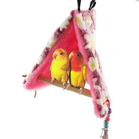 Hammock Bird by Bird Parrot Warm Fleece Hammock Perch Tent Hanging Swing