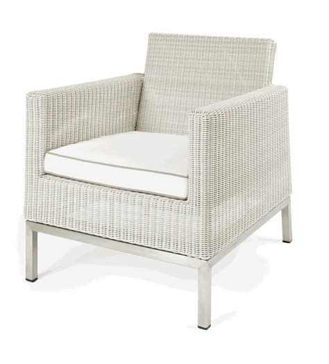 hton outdoor synthetic white wicker lounge chair bar