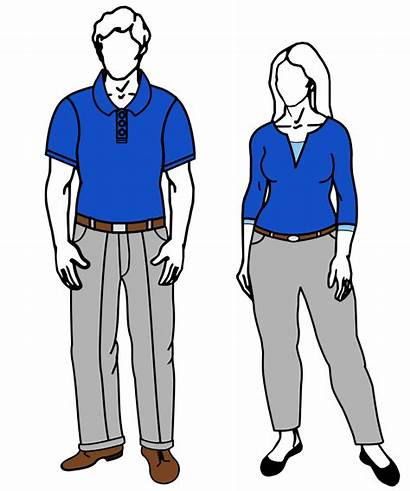 Casual Business Clipart Female Male Code Svg