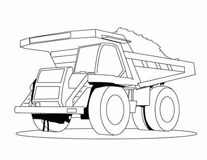 Truck Pages Coloring Semi Trailer Printable Colouring