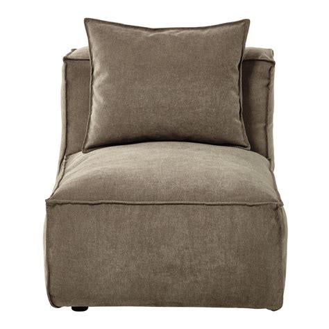 canapé chauffeuse modulable chauffeuse de canapé modulable en tissu taupe chiné rubens