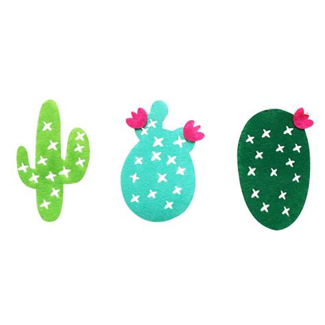woven fabric cactus party banner garland banner