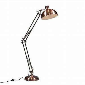 large angled floor lamp in four colours by out there With angled floor lamp wood