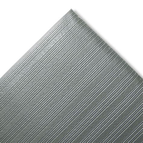 crown ribbed anti fatigue mat vinyl 27 x 36 gray fjs736gy