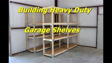 building heavy duty garage shelves youtube
