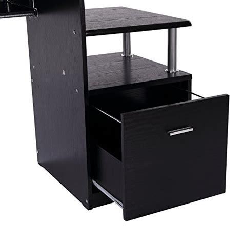 Office Desk Rack by Homcom Computer Desk Pc Workstation With Drawer Shelves