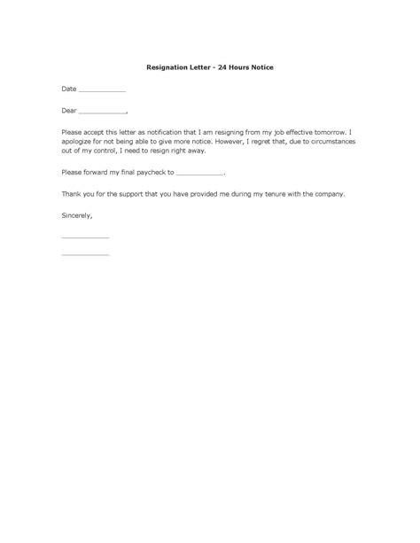Resignation Letter Templates | TemplateDose.com