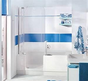 Sitzbadewanne Mit Dusche : nischen badewanne mit t r und dusche artweger twinline 2 profil weiss ~ Frokenaadalensverden.com Haus und Dekorationen