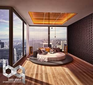 Idee chambre adulte amenagement et decoration design for Idee deco cuisine avec lit rond